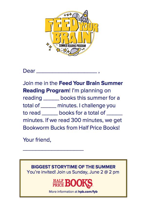Half Price Books - Feed Your Brain Summer Reading Program